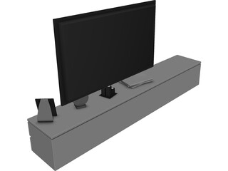 TV Stand Low 3D Model