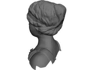 Head and Shoulders of a Statue of a Lady 3D Model