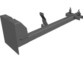 Rifle Rack CAD 3D Model