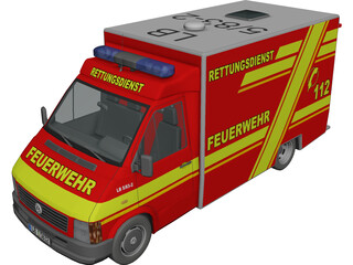 Volkswagen LT Ambulance RTW 3D Model