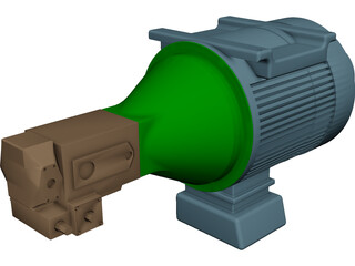 Motor Bellhousing Coupling Pump CAD 3D Model