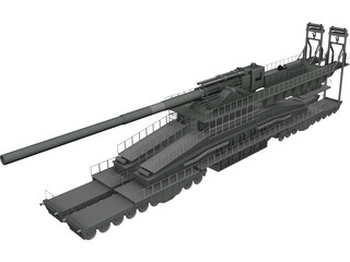 Schwerer Gustav Dora 3D Model 3D Preview