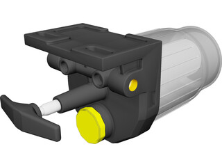 Pump ILC Hydraulic Manual CAD 3D Model
