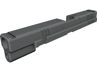 Springfield XD Tactical Slide CAD 3D Model