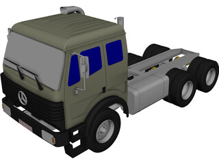 Mercedes-Benz Model 2628 CAD 3D Model