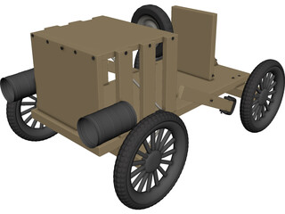 Soap Box Derby Car 3D Model