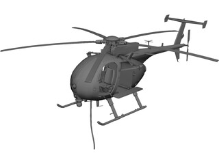 MD Helicopters MH-6/AH-6 Little Bird 3D Model