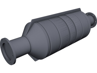Catalytic Converter CAD 3D Model