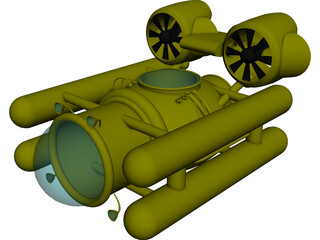 Deep Sea Submersible 3D Model