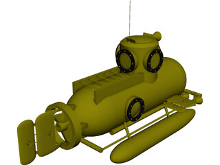 Deep Sea Mini Submarine 3D Model