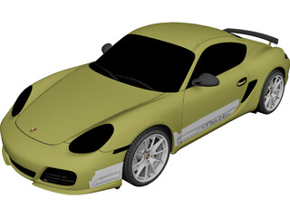 Porsche Cayman R (2011) 3D Model 3D Preview