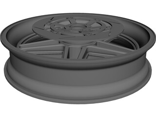 Wheel Front Bike CAD 3D Model