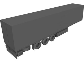 European Semi-Trailer CAD 3D Model