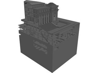 James Farley Post Office 3D Model