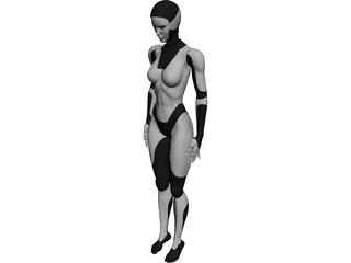 Female Android 3D Model