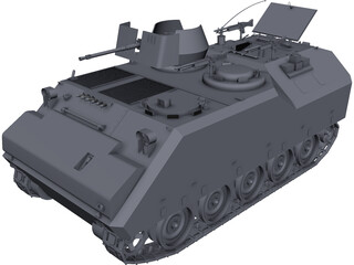 K200 Armored Car CAD 3D Model