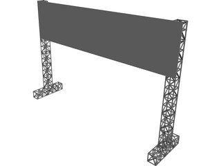 Big Board Gate 3D Model