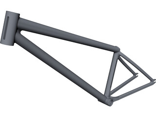 Dirt Bike Frame CAD 3D Model