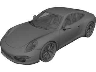 Porsche 911 (991) Carrera S (2012) 3D Model 3D Preview