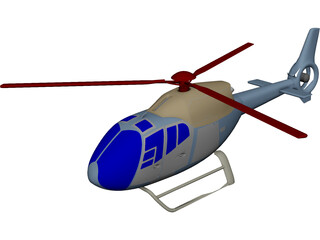 Eurocopter EC-120 Colibri CAD 3D Model