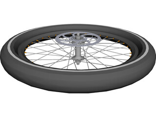 Wheel Disc Brake High Profile CAD 3D Model