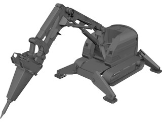 Brokk Demolition Robot 3D Model
