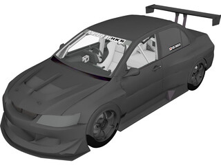 Mitsubishi Lancer Evolution HKS (2006) 3D Model