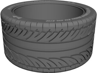 Hankook Ventus V12 Evo K110 Tire 305/25ZR 20 CAD 3D Model