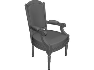 Classic Arm Chair 3D Model