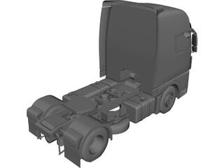European Cab Over Truck CAD 3D Model