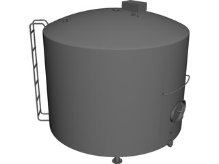 Milk Silo [NURBS] 3D Model