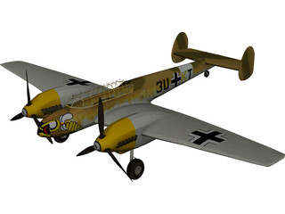 Messerschmitt BF-110 3D Model