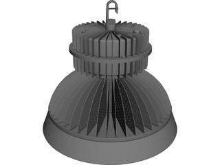 High Bay LED Light CAD 3D Model