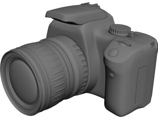 Canon EOS 400D 3D Model