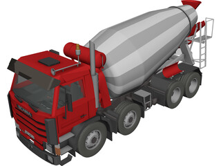 Scania 400 Cement Mixer 3D Model