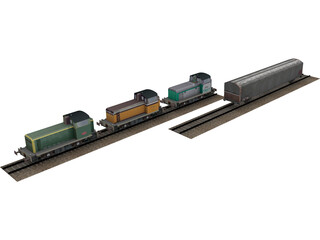 Trains Collection 3D Model