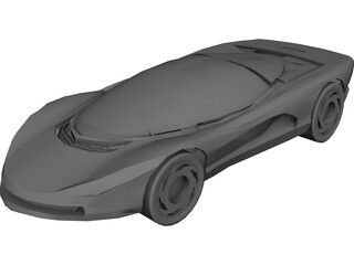 Chevrolet Corvette Indy Concept 3D Model