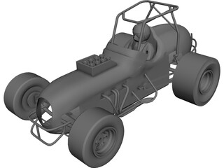 Sprint Car Buggy 3D Model