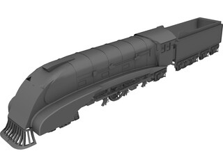 Wedge Locomotive 3D Model