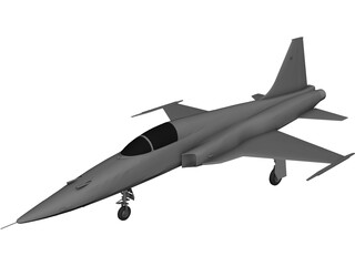 Northrop F-5E Tiger II 3D Model