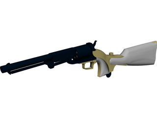 Colt 1847 Dragoon with Stock 3D Model