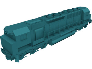 Two Ended Train 3D Model