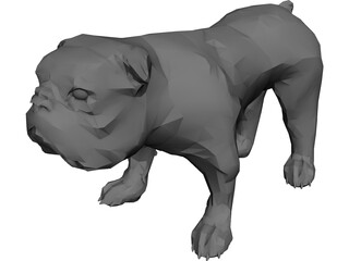 Dog Bulldog 3D Model