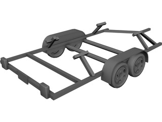 Boat Trailer 3D Model 3D Preview