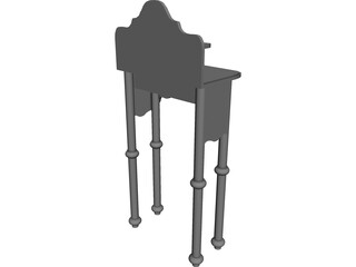 Lavatory Stand Antique 3D Model