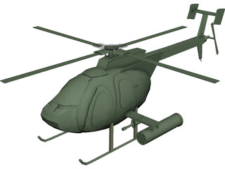 Hughes OH-6 Little Bird 3D Model