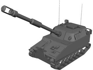 M109A6 Paladin Self-Propelled Howitzer 3D Model