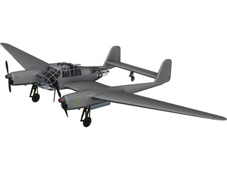 Focke-Wulf Fw 189 3D Model 3D Preview