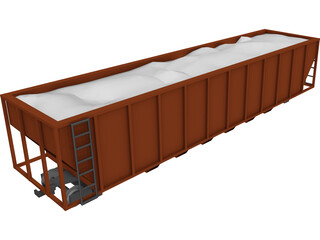 Railroad Coal Car 3D Model