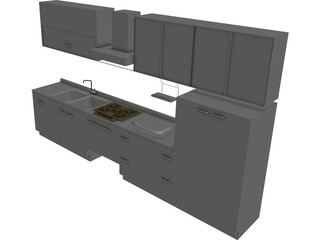 Kitchen Dada Amarena 3D Model